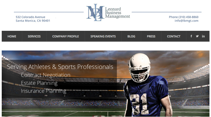 Leonard Business Management Launches New Website-0